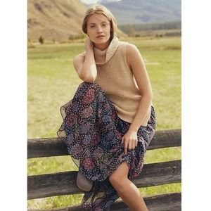 Angel of the North Camel Tan Cowl Neck Sweater